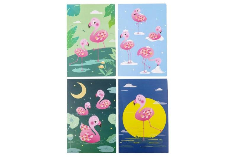 Flamingo Design A5 Notebook Notebooks One Dollar Only
