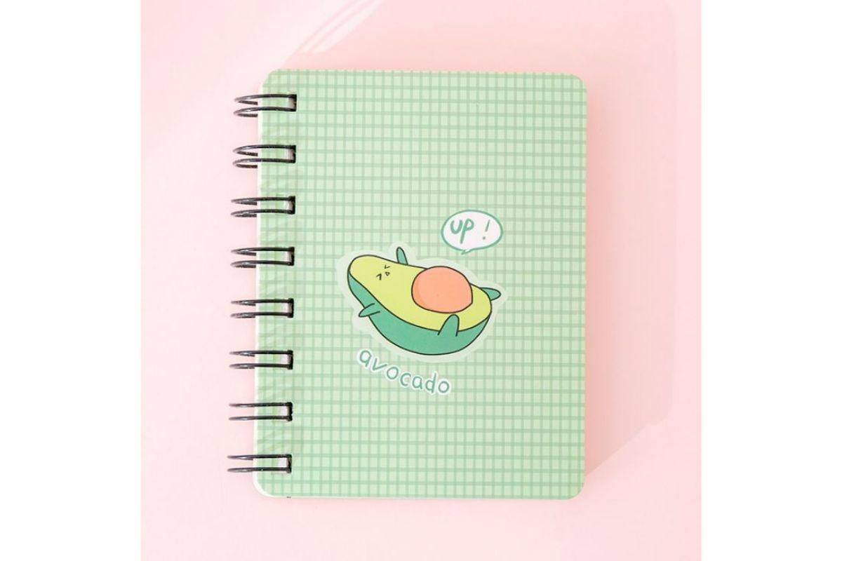 Whimsical Avocado Theme Spiral Notebook