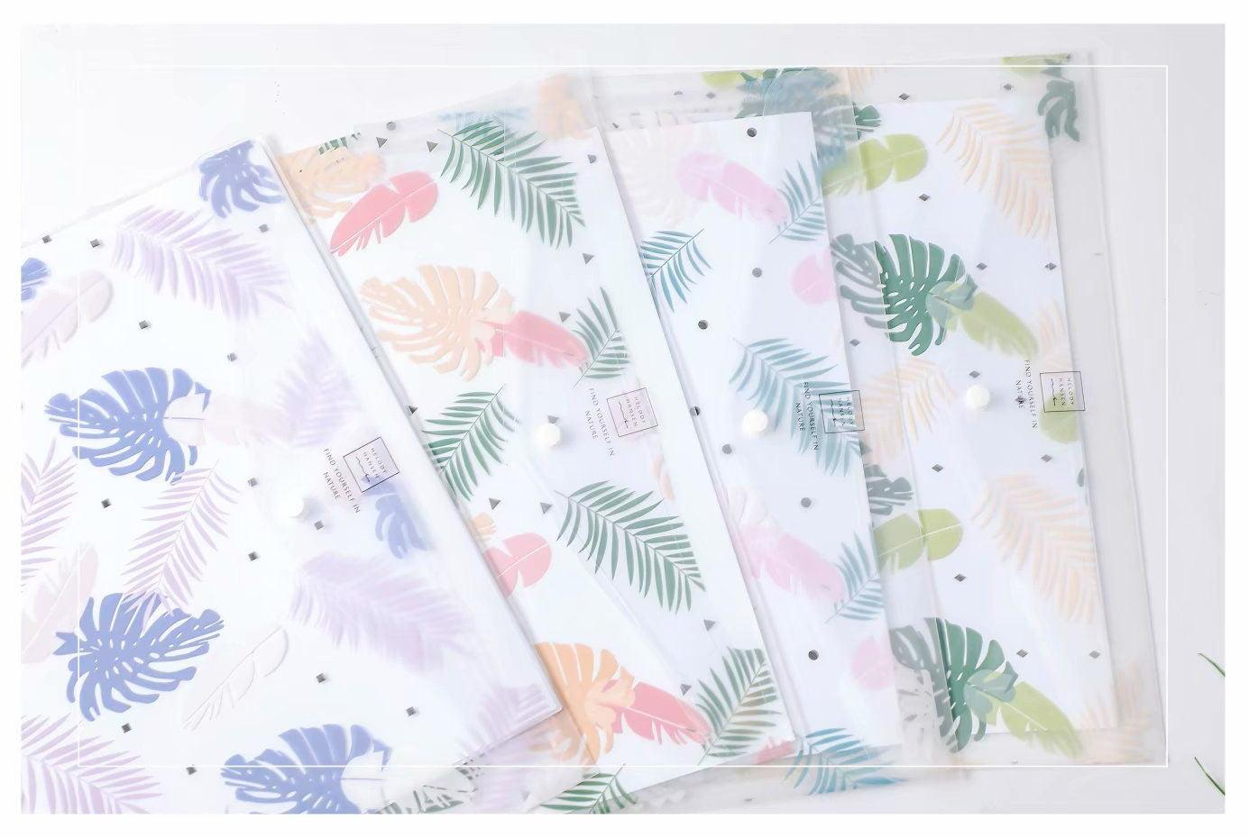 Botanical Design PP Button File (Pack of 12pcs)