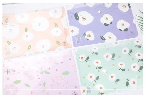 Floral Design PP Button File (Pack of 12pcs) Files and Folders One Dollar Only