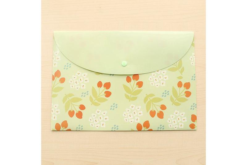 A4 Cartoon Floral Design Button Folder Files and Folders One Dollar Only