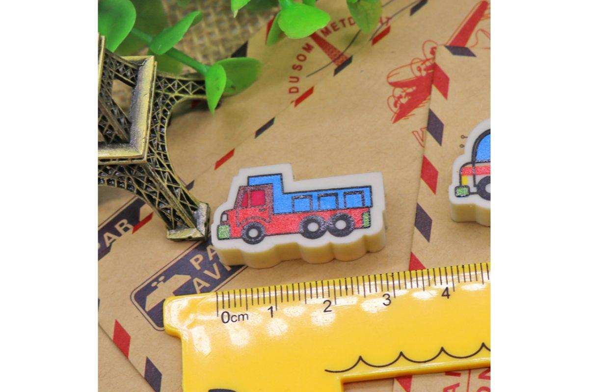 Transport Themed 4 Piece Eraser Set