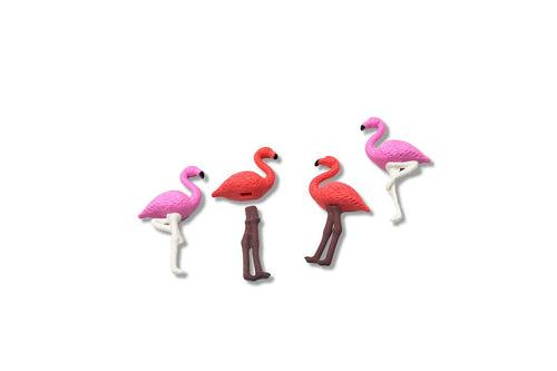 Tropical Flamingo 4 Piece Eraser Set Erasers One Dollar Only