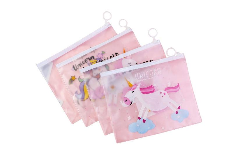 Whimsical Unicorn Design Transparent Zip Case CASES One Dollar Only