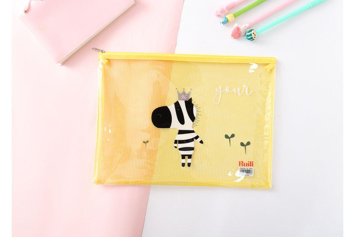 A5 Cute Cartoon Animal Design Zip Case