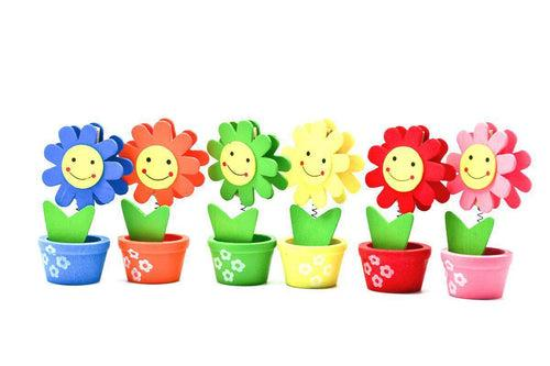 Wooden Flowerpot Card Holder Gift Ideas and Novelties One Dollar Only