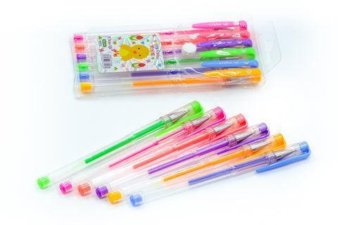 Colourful gel pen set