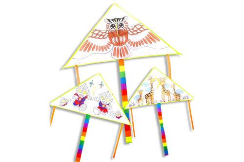 DIY Colouring Kite ART CRAFT DIY One Dollar Only