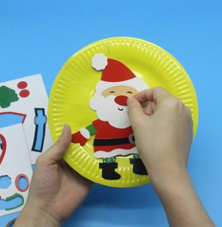 DIY Christmas Paper Plates Party Supplies One Dollar Only