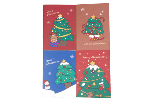 Christmas Tree Design Notebook Seasonal One Dollar Only