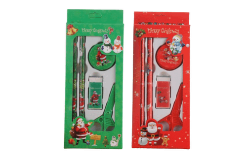 5 piece Christmas Stationery Set Seasonal One Dollar Only