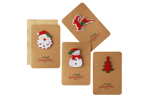 Christmas Gift Card with Envelope Seasonal One Dollar Only