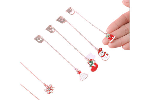 Christmas Theme Pendant Bookmark Seasonal One Dollar Only