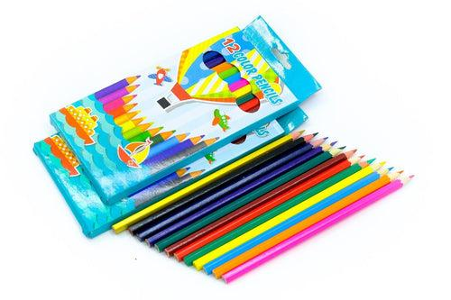 Flat Color Pencil Set Colouring Materials One Dollar Only