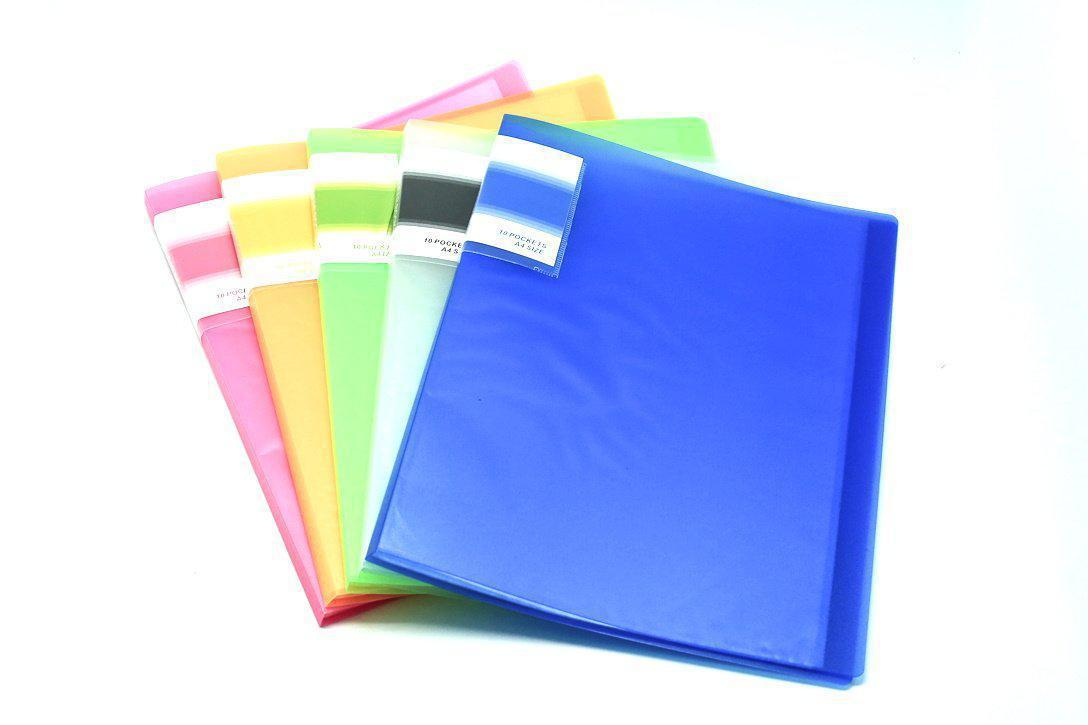 Translucent cover 10 sheet clearholder