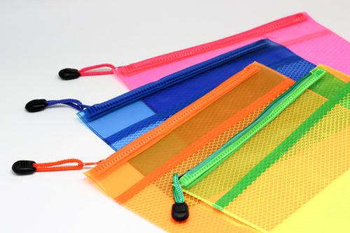 Neon Netting PVC Pouch Cases One Dollar Only