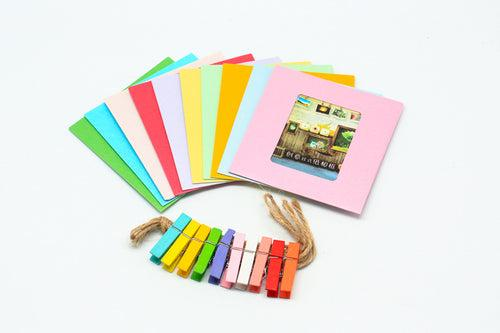 10pc Cardboard Photo Frame Colour GIFTS IDEAS One Dollar Only