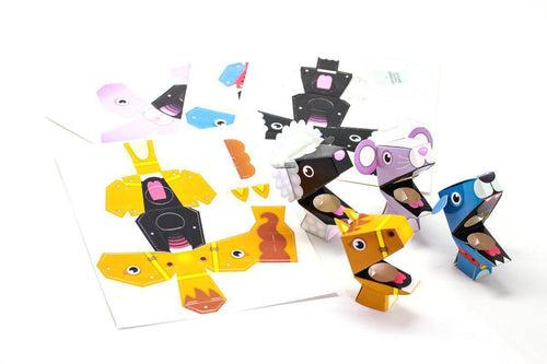 Pack of 4pcs DIY Cardboard Finger Puppets ART CRAFT DIY One Dollar Only