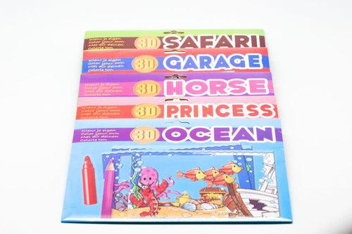 8pc 3D Colouring Cards Set ART CRAFT DIY One Dollar Only
