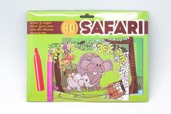 8pc 3D Colouring Cards Set