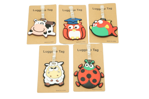 Cute novelty animal luggage tag KEY CHAINS / LUGGAGE TAG One Dollar Only