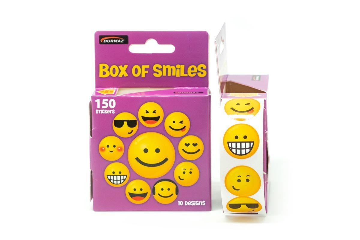 Box of Smiley Face Stickers,  - 250619 - One Dollar Only