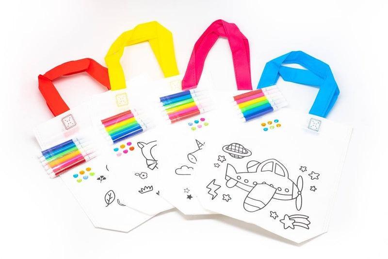 DIY Colouring Non Woven Bag Set - Cartoon Design BAGS One Dollar Only