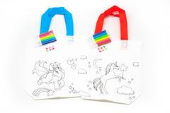 DIY Colouring Non Woven Bag Set - Unicorn Design-250619-One Dollar Only
