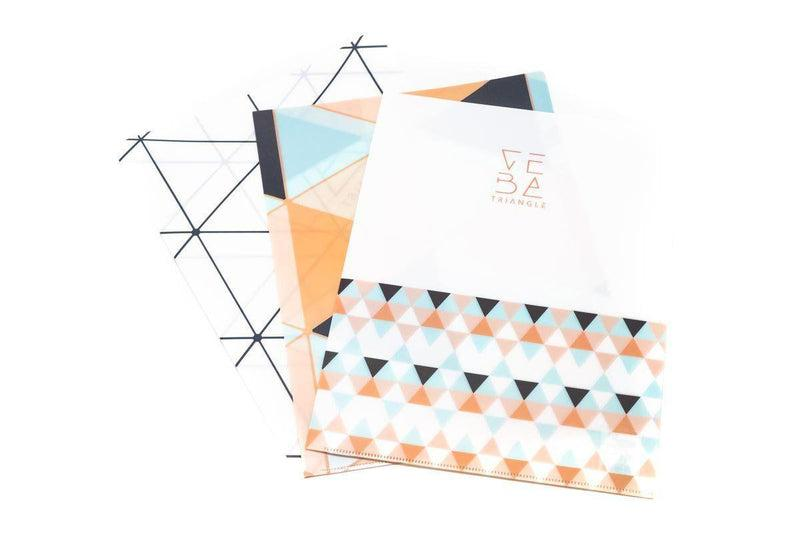 Geometric Design L Folder (Pack of 12) Files and Folders One Dollar Only
