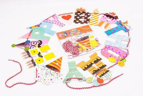 Happy Birthday Banner With String Party Supplies One Dollar Only
