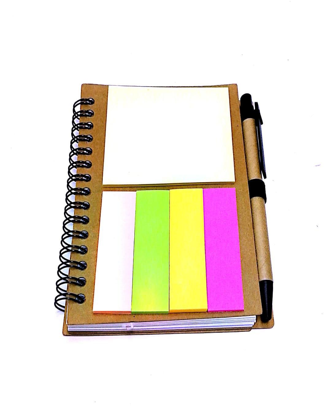 Recycled Notebook with Sticky Pad and Pen