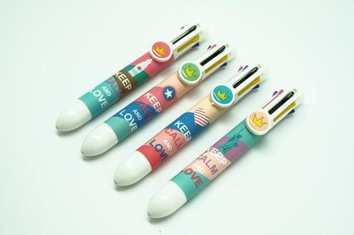 Keep Calm Motif 8 Colored Pens, - - One Dollar Only