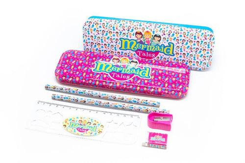 Metal Pencil Case Stationery Set, Default Title - 250619 - One Dollar Only