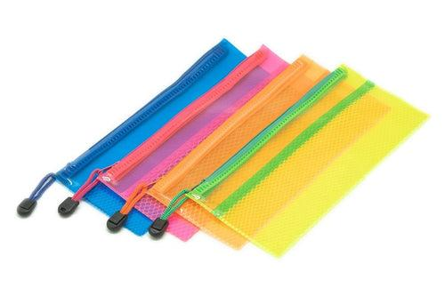 Neon Netting PVC Pencil Case Cases One Dollar Only