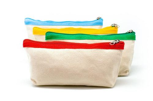 Premium Canvas Fabric Pencil Case, - Pencil Cases/Bags - One Dollar Only