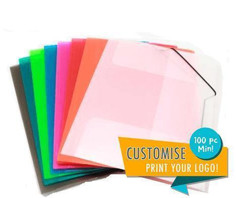 Premium Transparent Plastic Banded Folders (Assorted),  - Everyday Stationery,Stationery,Premium Items - One Dollar Only