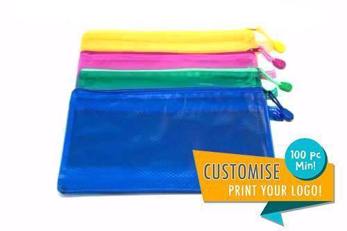 PVC Zip Case with Divider (A4),  - Premium Items - One Dollar Only