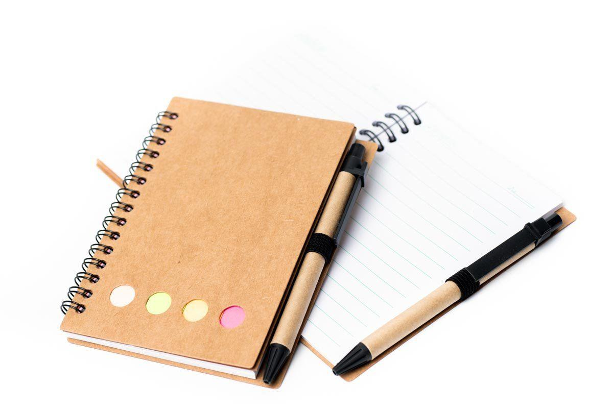 Recycled Notebook with Sticky Pad and Pen 250619 OneDollarOnly Default Title