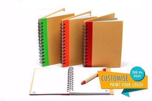 Ring Bound Recycled Notebook with Pen Notebooks One Dollar Only