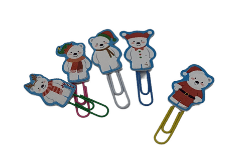 Christmas Theme Paper Clips Seasonal One Dollar Only