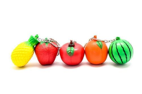 Stress Ball Keychain (fruits) NOTEPADS/PLANNERS One Dollar Only