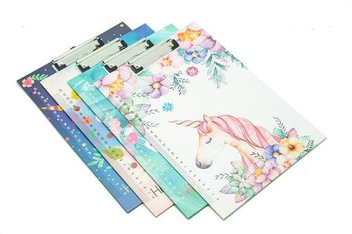 Unicorn Floral Design Clipboard, Default Title - 250619 - One Dollar Only