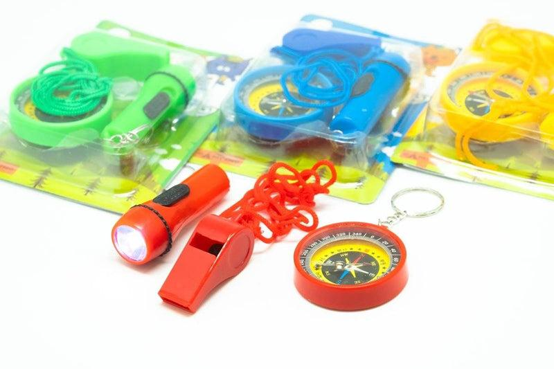 Whistle and Compass Set Stationery Set One Dollar Only