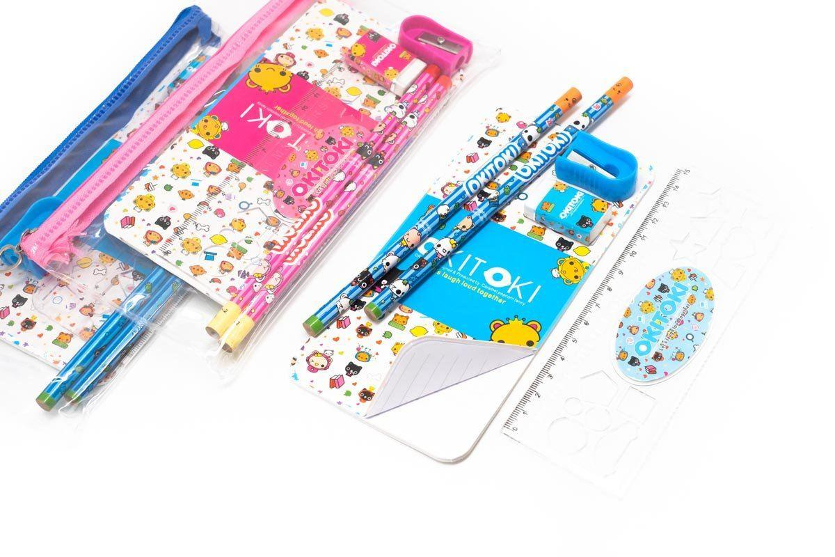 Zip Pencil Case Stationery Set 250619 OneDollarOnly