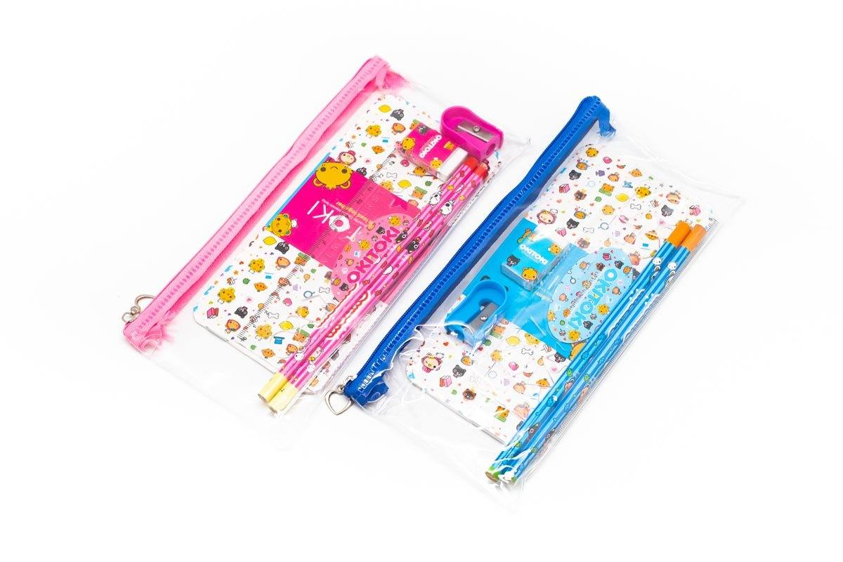 Zip Pencil Case Stationery Set, Default Title - 250619 - One Dollar Only